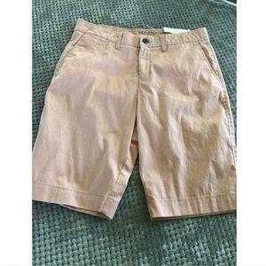 NWT Sonoma Seersucker Everyday Bermuda Shorts